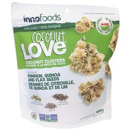 Inno Coconut Love Clusters - Pumpkin, Quinoa & Flax - 100g