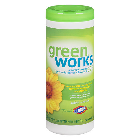 Green Works Natural Cleaning Wipes - Original - 30's