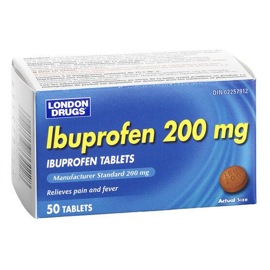 London Drugs Ibuprofen 200mg - 50's