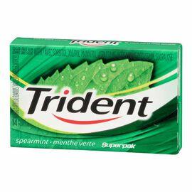 Trident Gum - Spearmint - 14 pieces