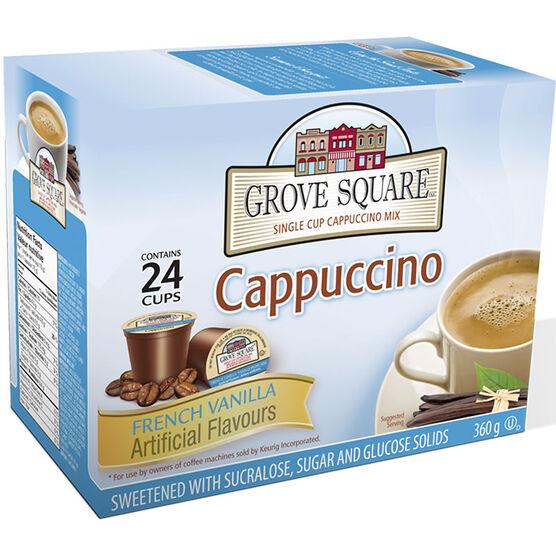 Grove Square Cappuccino - French Vanilla - 24 pack