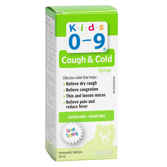 Homeocan Kids 0-9 Homeopathic Cough and Cold Syrup - 250ml