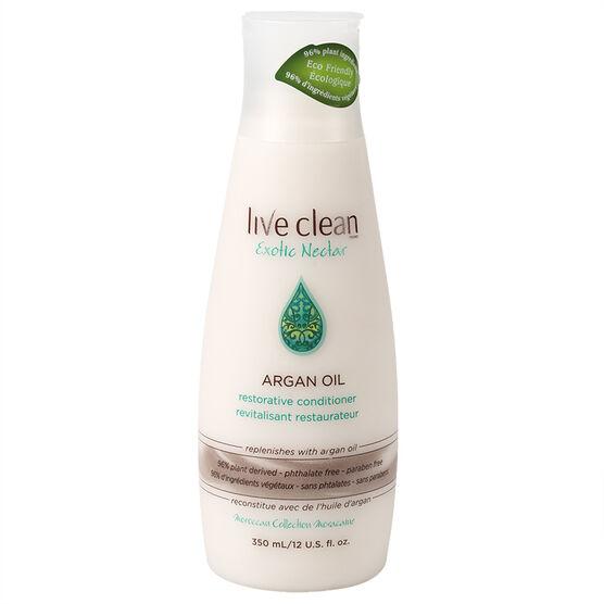 Live Clean Exotic Nectar Argan Oil Restorative Conditioner - 350ml