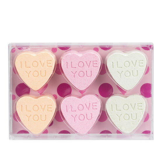 Beautyous Bath Fizzers - Heart - 6 piece