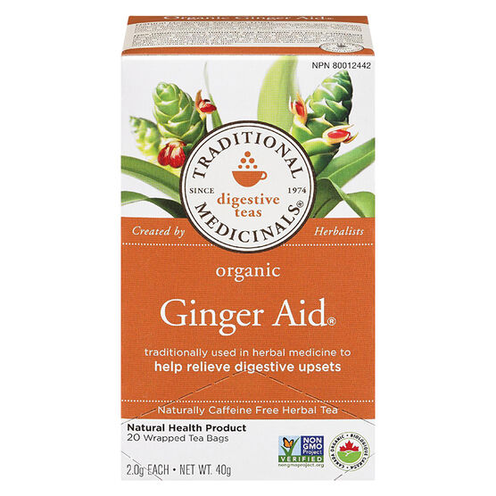 Traditional Medicinals Herbal Tea - Organic Ginger Aid - 20's