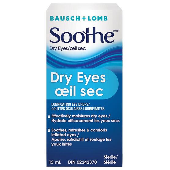 Bausch & Lomb Soothe Dry Eyes Eye Drops  - 15ml