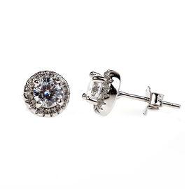 Charisma Sterling Silver Halo Stud Earrings