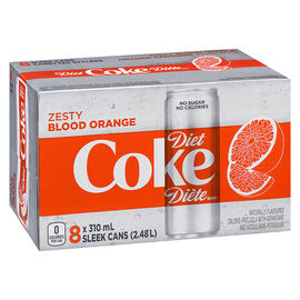 Diet Coke - Zesty Blood Orange - 8 x 310ml