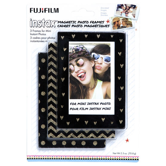 Fuji Instax Magnetic Photo Frames - Gold/Black - 3 Pack - 600017184