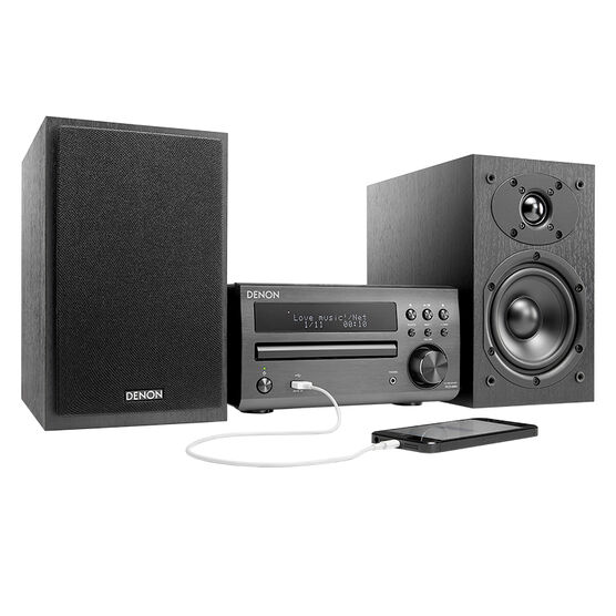 Denon CD Receiver Micro System - Black -DM40