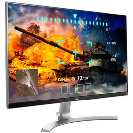 LG 27-inch Ultra HD IPS 4K Monitor - White - 27UD68-W