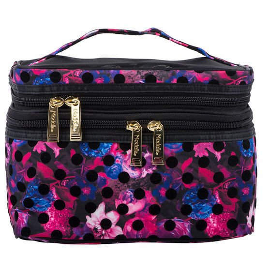 Modella Midnight Bloom Fitted Double Zip Train Case - A006730LDC