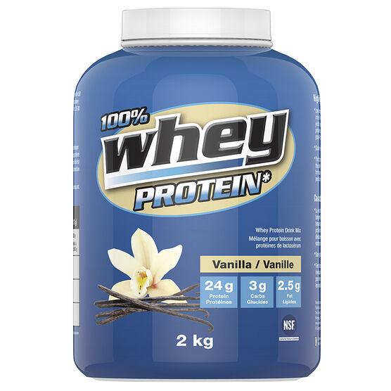 100% Whey Protein Powder - Vanilla - 2kg