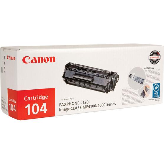 Canon 104 Toner Cartridge - Black - 0263B001