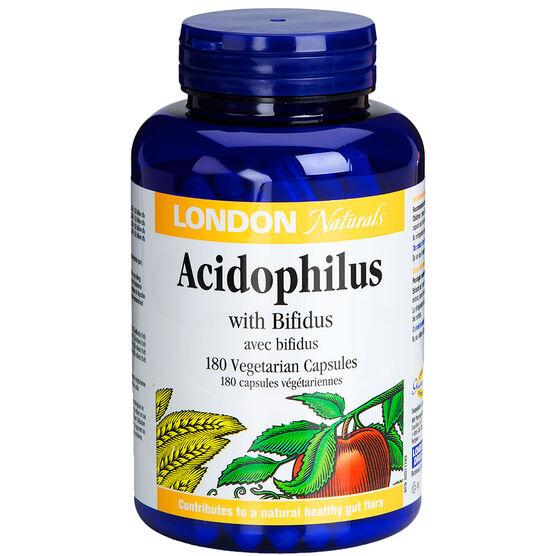 London Drugs Naturals Acidophilus with Bifidus Vegetarian Capsules - 180's