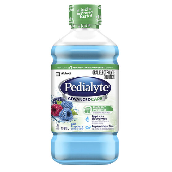 Pedialyte AdvancedCare - 1 L - Blue Raspberry