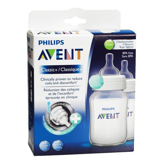 Avent Classic Plus Baby Bottles - 2 x 260ml