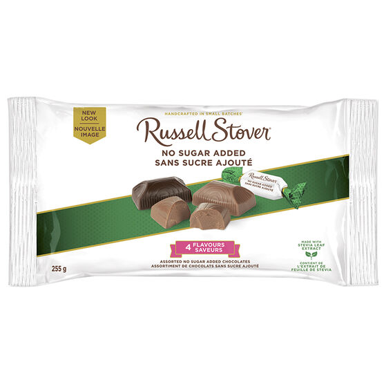 Russel Stover Miniatures 4 Flavors - No Sugar Added - 255g bag