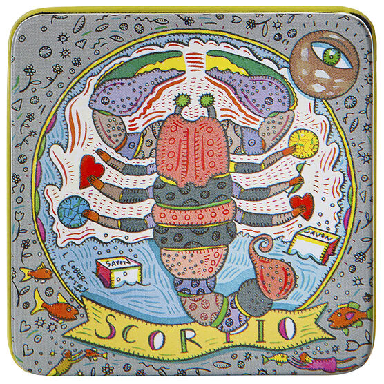 Zodiac Soap in Tin - Scorpio - 100g