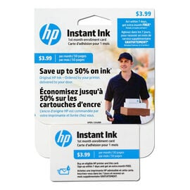 HP Instant Ink Enrollment Card - 50 Pages Monthly - J3N16AC