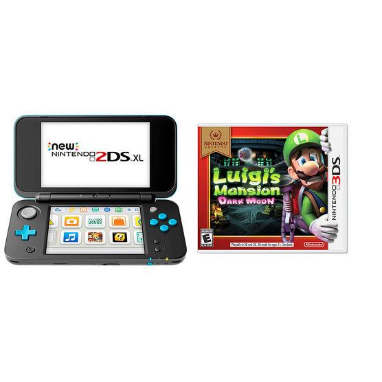 Nintendo New 2DSXL Gaming Console Bundle - Luigi's Mansion: Dark Moon