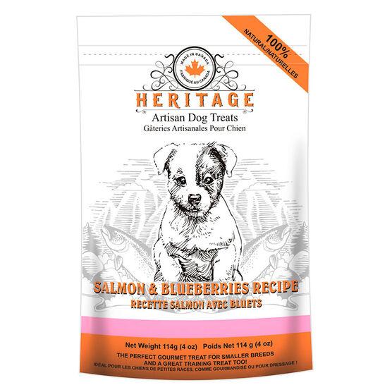 Heritage Teeny Dog Treats - Salmon and Blueberry - 114g