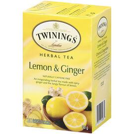 Twinings Herbal Tea - Lemon & Ginger - 20's