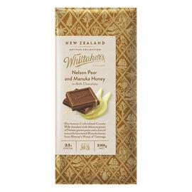 Whittaker's Milk Chocolate - Nelson Pear and Manuka Honey - 100g