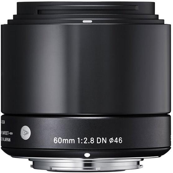 Sigma Art 60mm F2.8 DN Black Lens for Micro Four Thirds - A60DNBKMFT