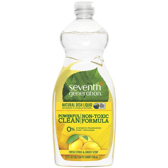Seventh Generation Dish Liquid - Fresh Citrus & Ginger Scent - 739ml