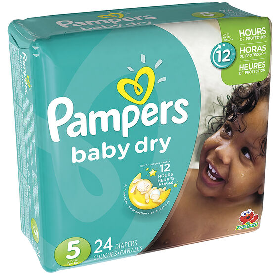 Pampers Baby Dry Diapers - Size 5 - 24's