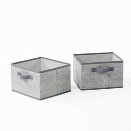 NeatFreak Storage Bins - Pixel Grey - Large/2pk
