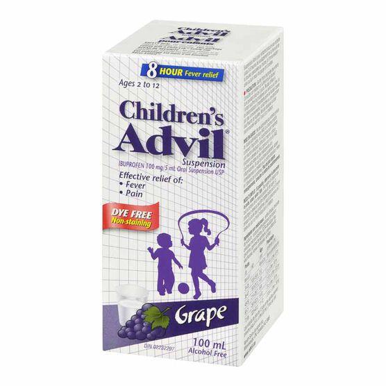 Advil Children's Suspension Dye-Free - Grape - 100ml