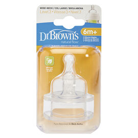 Dr Brown's Natural Flow Nipples Level 3 - Wide-Neck - 2 pack