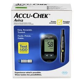 Accu-Chek Aviva Blood Glucose Monitoring System - Black