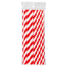 Endura Paper Straws - Striped - 25's