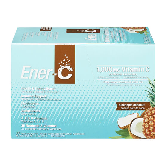 Ener-C Vitamin C Powered Drink Mix - 1000mg - Pineapple Coconut - 30's