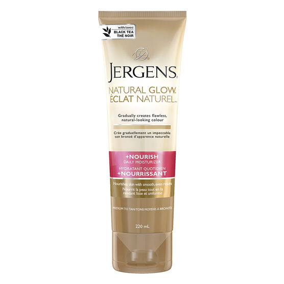 Jergens Natural Glow +Nourish Daily Moisturizer - Medium to Tan - 220ml