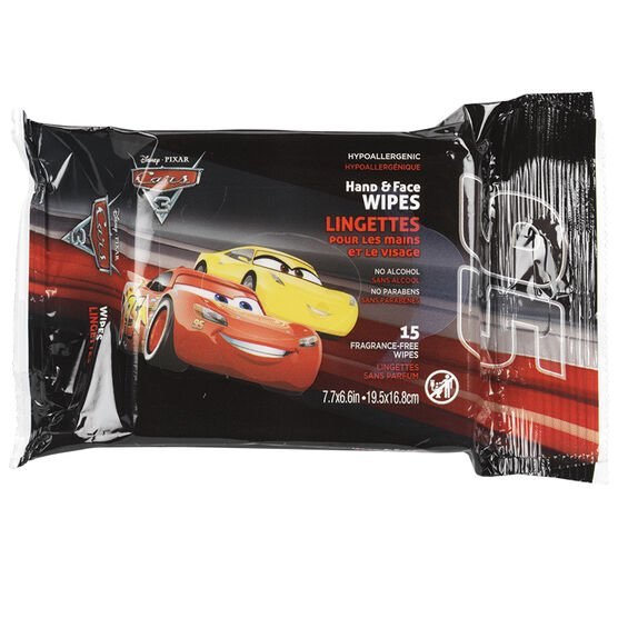 Disney Themed Hand & Face Wipes - Assorted - 15's