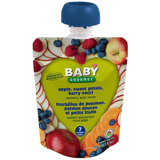 Baby Gourmet Baby Food Stage 2 - Apple, Sweet Potato, Berry Swirl - 128ml