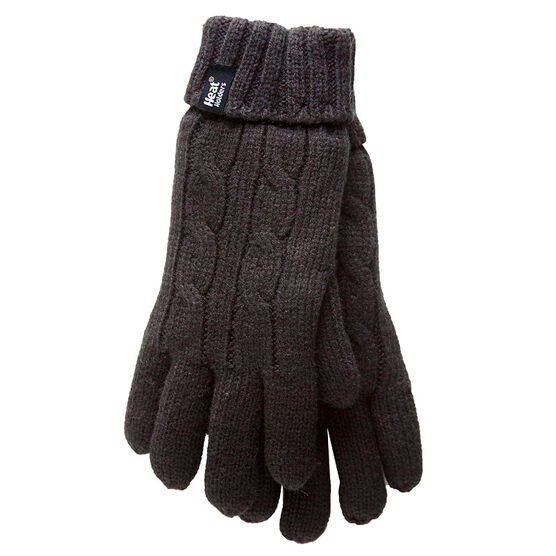 Heat Holders Ladies Knit Gloves - Black - Large