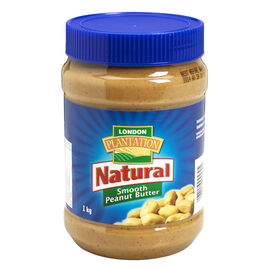 London Plantation Natural Smooth Peanut Butter - 1kg