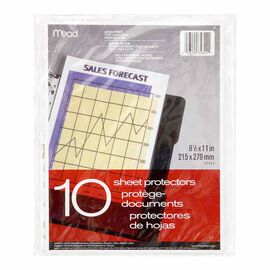Mead Sheet Protectors - 8.5 x 11inch - 10 pack