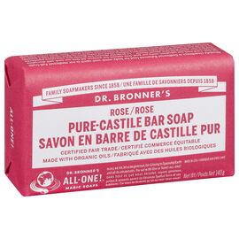 Dr. Bronner's Pure-Castile Bar Soap - Rose - 140g