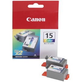Canon BCI-15 Ink Cartridge - 2 Tanks - Colour - 8191A003