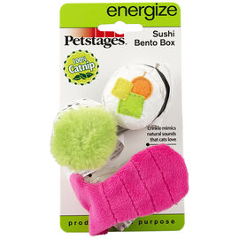 Outward Hound Pet Stages Sushi Bento Box Cat Toy - Assorted