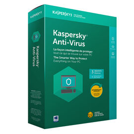 Kaspersky Anti-Virus 2018 - 3 Devices/1 Year