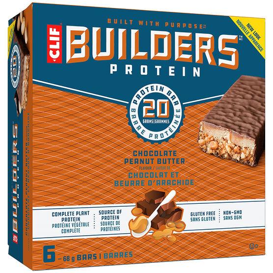 Clif Builders Bar - Chocolate Peanut Butter - 6 x 68 g