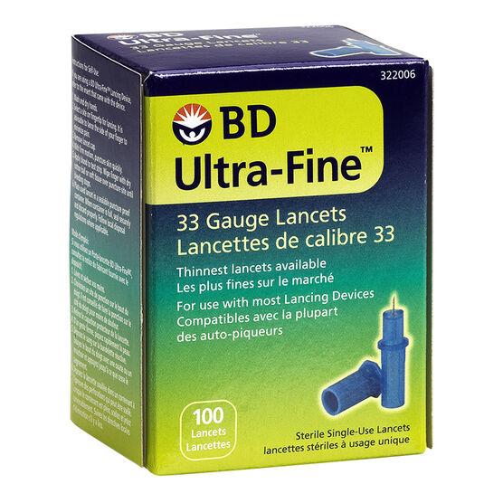 BD Ultra Fine 33 Lancets - 100's