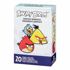 Angry Birds Adhesive Bandages - 20's